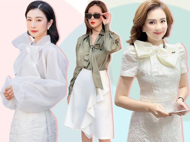 MC Mai Ngọc hoá tiểu thư với 1 kiểu áo, hội quý cô Vbiz cũng lăng xê nồng nhiệt