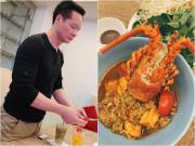"""Bếp Eva - Chồng Phan Như Thảo ngày càng """"lên tay"""", chăm khéo vợ con mùa dịch bằng những món ngon"""