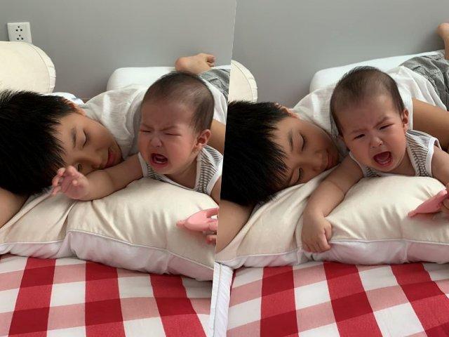 Biểu cảm siêu dễ thương của con gái Lê Phương khi bị anh trêu nhận cơn mưa lời khen
