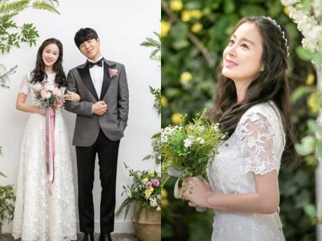 Gái 2 con Kim Tae Hee tung bộ ảnh cưới nhưng chú rể không phải ông xã Bi Rain