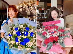8/3: Người được quà trăm triệu, Hari Won, Bảo Thy lại sướng rơn vì hoa to đùng của chồng
