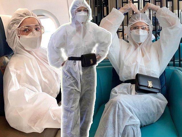 Chi Pu mặc đồ bảo hộ chống dịch vẫn sang chảnh ngút ngàn