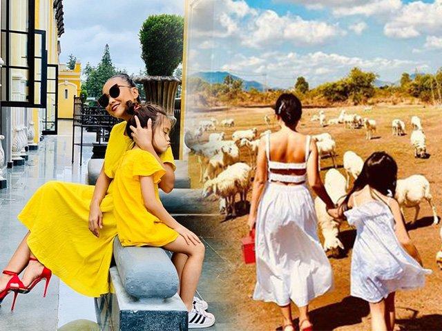 Khoe hình gia đình đẹp như mơ, Đoan Trang và con gái hút sóng bởi màn lên đồ ăn ý