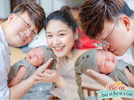 40 tuổi mới được làm bố, Sỹ Luân thức trắng đêm, đầu bù tóc rối chăm con cho vợ trẻ