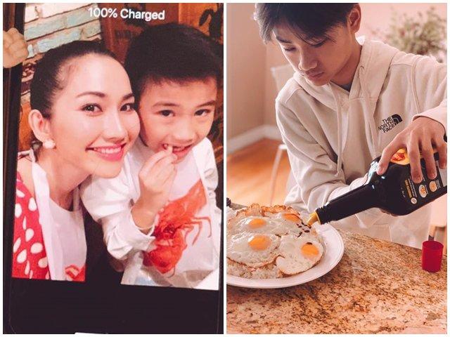 Sau 5 năm theo mẹ sang Mỹ sống cùng cha dượng, con trai Kim Hiền giờ lớn bổng, đẹp trai