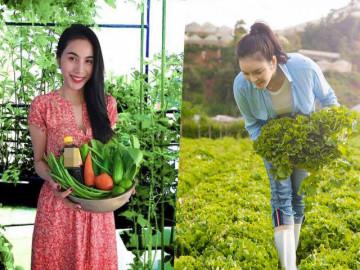 """5 mỹ nhân giàu """"nứt vách đổ tường"""" nhưng thích sống bình dân, trồng rau, chăm cây cảnh"""