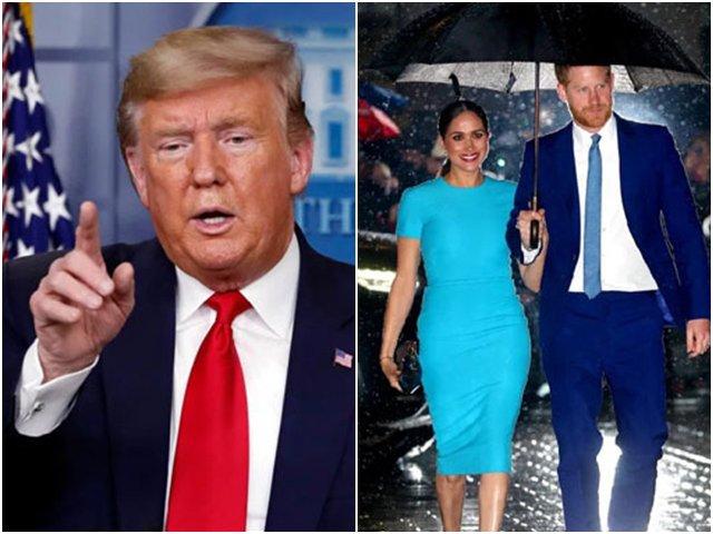 Vợ chồng Meghan và Hoàng tử Harry đến Mỹ, Tổng thống tuyên bố không trả phí an ninh