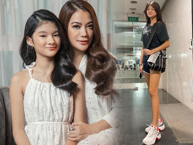 Hưởng gen mẹ chân dài miên man, con gái tình cũ Kim Lý còn có món nghề tút dáng ngọc