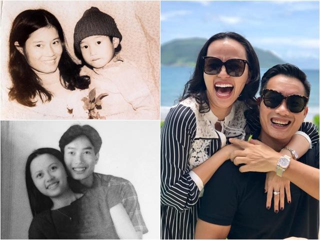 MC đình đám VTV khoe hình ảnh xưa bên mẹ, ảnh cũ với vợ và con trai hot không kém