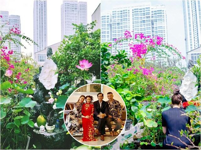 Sao Việt 24h: Hồ Ngọc Hà khoe khu vườn đầy hoa trái trên nóc biệt thự nhà bố mẹ ruột