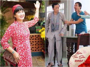 Mở tivi xem phim Tết: Mẹ chồng quốc dân trúng số độc đắc, Hoài Linh khắc khẩu với sui gia