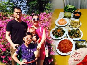 Tết xứ Nhật, mẹ Nhật Linh cùng 3 con gói bánh chưng để vơi nỗi nhớ nhà, nhớ Nhật Linh