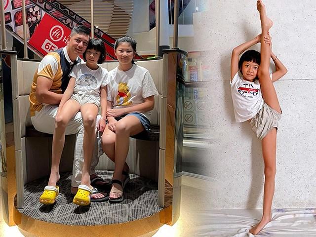 Đúng là con nhà tông, công chúa útnhà Bình Minh mới 8 tuổi đã có đôi chân chuẩn siêu mẫu