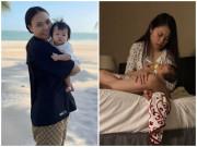 Chồng đăng ảnh   dìm   vợ sau sinh: Đàm Thu Trang mặt mộc kém sắc, Đông Nhi vòng 2 lớn