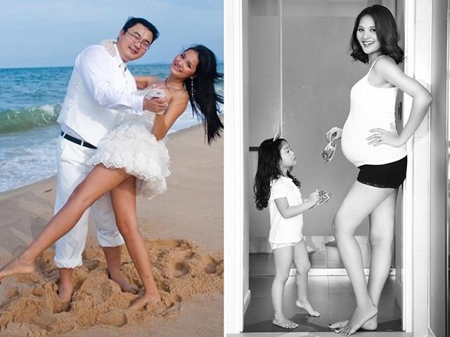 Hoa hậu đẹp nhất châu Á lấy chồng Trung Quốc, mang bầu mỗi sáng nhìn xuống bụng lại đau lòng