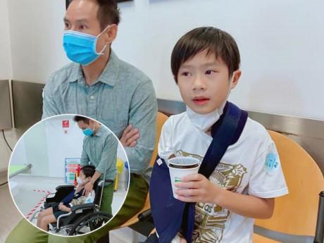 Lý Hải kể lại cảnh con trai cả nhập viện đúng mùng 2 Tết, nhìn mắt bé đỏ hoe