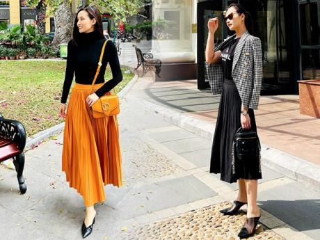 Khéo phối đồ như Lã Thanh Huyền, chỉ diện 1 kiểu chân váy vẫn không nhàm chán
