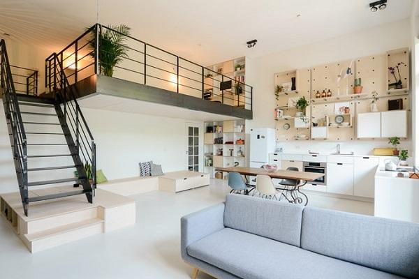 Mẫu nhà gác lửng đẹp, hiện đại nhất 2021 với giá thành rẻ - 10