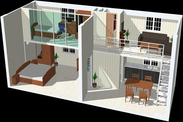 Mẫu nhà gác lửng đẹp, hiện đại nhất 2021 với giá thành rẻ - 1