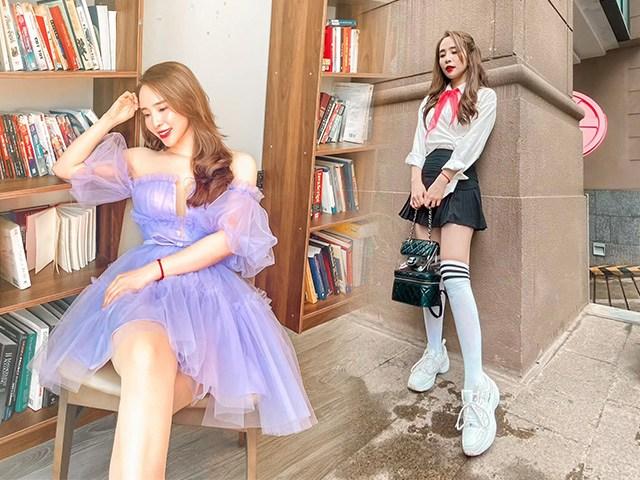 Nữ sinh nào sành như Quỳnh Nga: mặc váy ngắn cũn, đeo balo trăm triệu làm bạn học ngất ngây