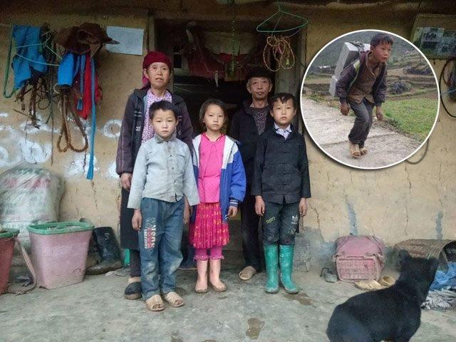 Cuộc sống mới của cậu bé ở Hà Giang cõng viên gạch 12kg lấy 2.000 đồng