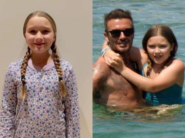 9 tuổi, Harper Beckham ngày càng cao lớn, độ nổi tiếng còn vượt xa các anh trai
