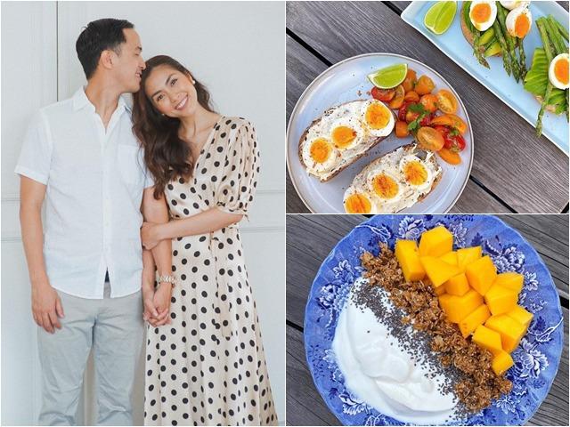 Xuýt xoa với những bữa sáng đẹp mê của Tăng Thanh Hà, bảo sao chồng con thích thú