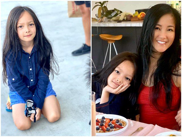 Hồng Nhung lần nữa giải thích chuyện con trai 9 tuổi để tóc dài ngang lưng