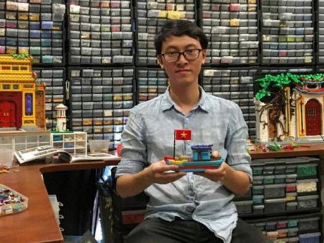 Chàng trai xếp Lego hình làng quê, đình chùa Việt Nam lên báo Anh