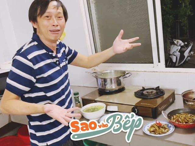Sao vào bếp: Hoài Linh ngụp lặn cào hến, bắt cá, mếu máo khi giới thiệu bữa cơm dân dã