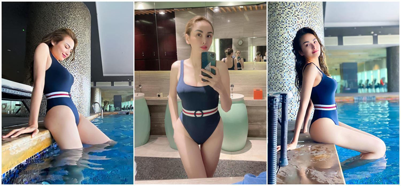Hoa hậu Diễm Hương khoe body nóng bỏng, không tập tành chỉ giữ dáng với muối vàớt - 7