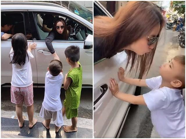 Nhận nuôi 23 con, cảnh Phi Nhung đi làm được các con xếp hàng hôn tạm biệt thật ấm lòng
