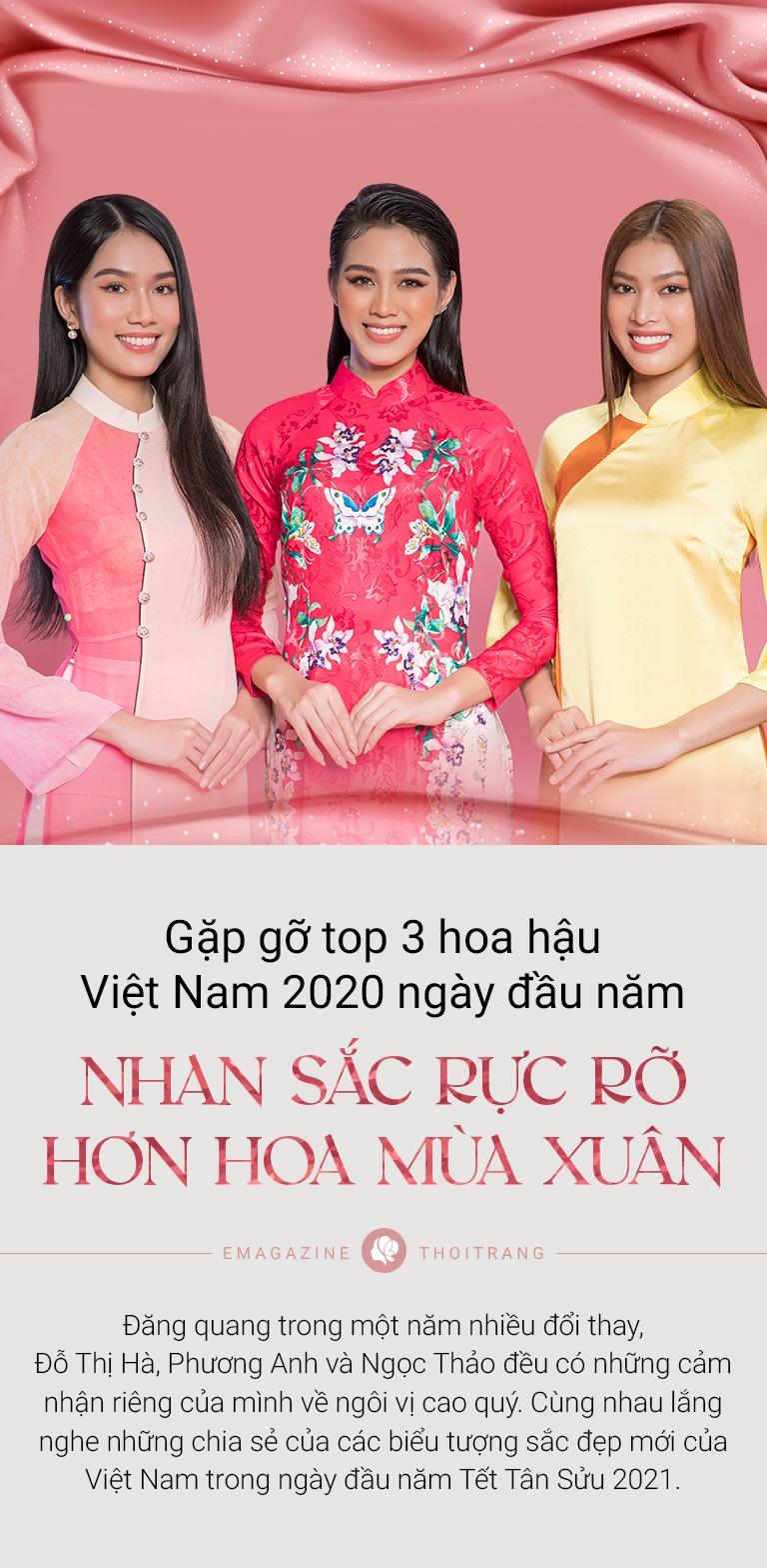 Gặp gỡ top 3 Hoa Hậu Việt Nam ngày đầu năm: Nhan sắc rực rỡ hơn hoa mùa Xuân - 2