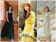 Thời trang - Váy hoa cỏ khoảng 300K lại trở thành hot trend mùa hè, Ngọc Trinh, Hương Giang dẫn đầu xu hướng