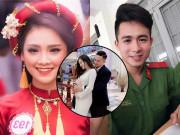 Mỹ nhân Hoa hậu Việt Nam mang bầu với  ' hotboy cảnh sát ' , vác bụng đi học không ai biết