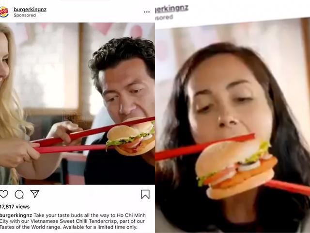 Chế nhạo văn hóa dùng đũa, Burger King hứng chịu sự phẫn nộ của cư dân mạng