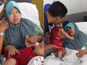 Mẹ òa khóc nức nở khi bế con, câu chuyện phía sau khiến nghìn người xúc động