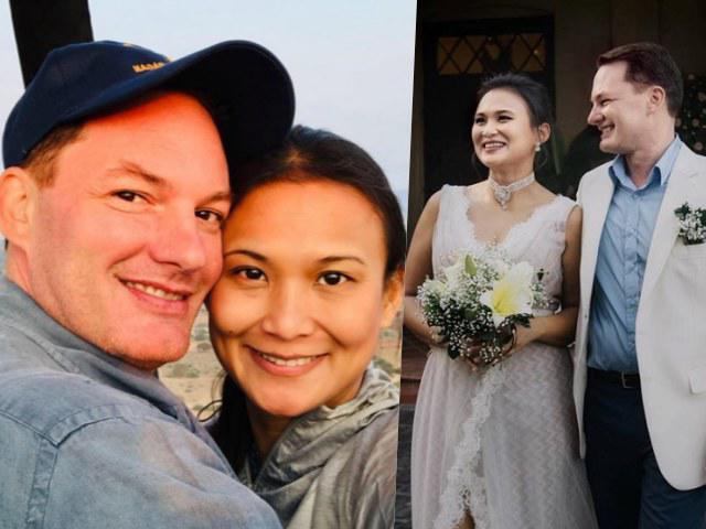 Vội tái hôn với tình đầu, chồng cũ Hồng Nhung lần đầu lộ diện với vợ mới sau đám cưới