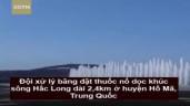 Hơn 170 cột nước ấn tượng cao 12 mét xuất hiện khi phá băng
