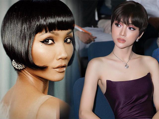 Trời nắng nóng, hãy tham khảo kiểu tóc búp bê của HHen Niê và Hương Giang ngay