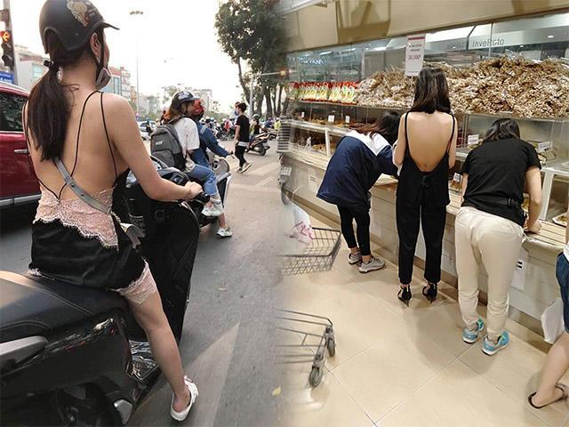 Vừa nắng nóng, 3 cô gái này đã mặc như không, lồ lộ ra đường khiến nhiều người nóng mắt