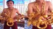 Sau Phúc XO, lại xuất hiện người đàn ông đeo vàng với số lượng 'siêu khủng'