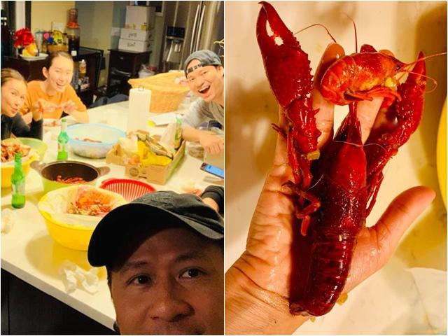 Choáng khi Bằng Kiều và đồng bọn ăn hết 14kg tôm, Quang Dũng thốt lên: Dã man
