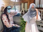 Thời trang - Nóng như đổ lửa, Diễm Trang và Tiểu Vy thi nhau sáng tạo thời trang tránh nắng cực đỉnh
