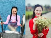 Mới sinh 3 tháng, hoa khôi Duyên dáng Hà thành 2013 tái xuất dáng   nuột   khó tin