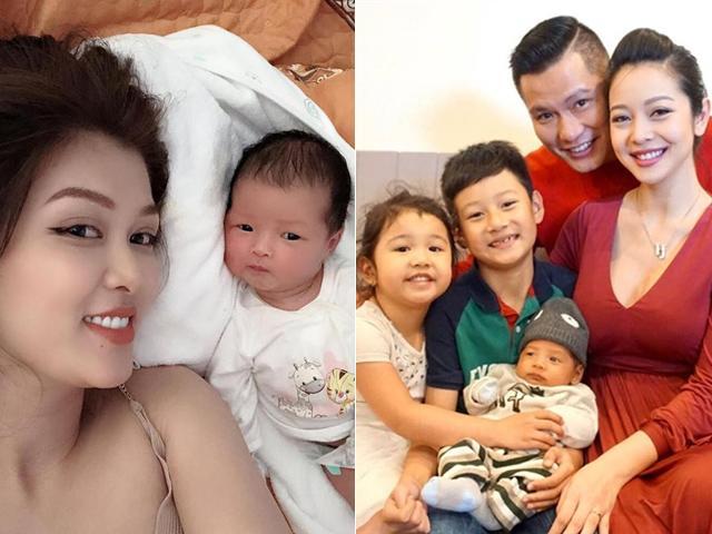Lấy chồng đại gia, 3 nàng Hoa hậu chẳng ngại sinh liền tù tì, đông con nhất showbiz Việt