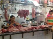 """Thịt lợn giảm sâu, tiểu thương chợ truyền thống """"chết đứng"""""""
