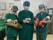 Vỡ kế hoạch   mang bầu lần 3, mẹ Tuyên Quang sinh 3 bé trai cực hiếm, tỉ lệ 1/200 triệu