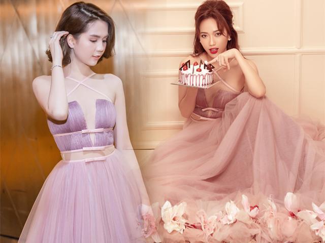 Diệu Nhi và Ngọc Trinh tình thân như chị em đến chiếc đầm cũng chia nhau mà diện!