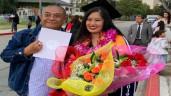 Con gái lớn tài giỏi của Hồng Vân tốt nghiệp ở Mỹ, biểu cảm của bố dượng gây chú ý